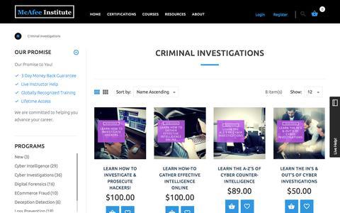 Criminal Investigations | McAfee Institute