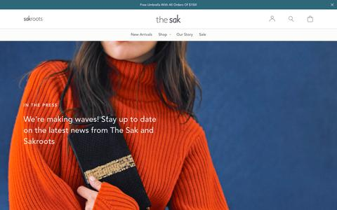 Screenshot of Press Page thesak.com - Press                        – The Sak - captured Jan. 8, 2019
