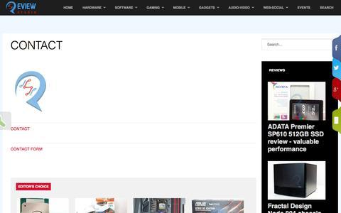 Screenshot of Contact Page reviewstudio.net - Contact - ReviewStudio @ReviewStudio.net - captured Sept. 19, 2014