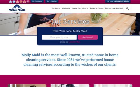 Screenshot of Services Page mollymaid.com - House Cleaning Services & Home Cleaning Services   Molly Maid - captured Sept. 11, 2017