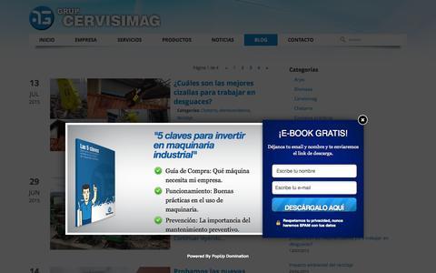 Screenshot of Blog cervisimag.com - Blog Cervisimag | Sobre maquinaria industrial - captured July 16, 2015