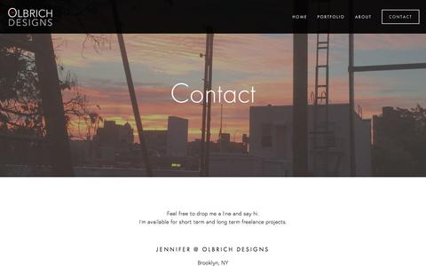 Screenshot of Contact Page olbrichdesigns.com - CONTACT — Olbrich Designs - captured June 12, 2017