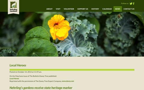 Screenshot of Press Page nehrlinggardens.org - News - Nehrling Gardens - captured Jan. 12, 2016