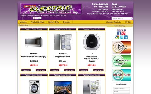 Screenshot of Home Page theelectricdiscounter.com.au - Appliances Online, Instore & Onsale 24/7 | The Electric Discounter - captured Sept. 19, 2014