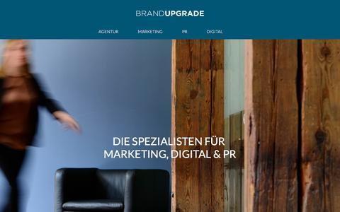 Screenshot of Home Page brand-upgrade.de - Home - captured July 31, 2018