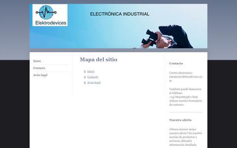 Screenshot of Site Map Page ingenierialezana.com - Ingenieria Lezana SL - captured Jan. 8, 2016