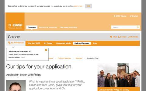 Screenshot of basf.com - Application Tips - captured Jan. 21, 2017