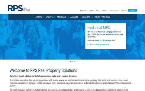 Screenshot of Home Page rpsrealsolutions.com - RPS Real Property Solutions - captured Nov. 18, 2019
