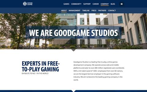 Screenshot of About Page goodgamestudios.com - About Goodgame Studios - captured March 19, 2016