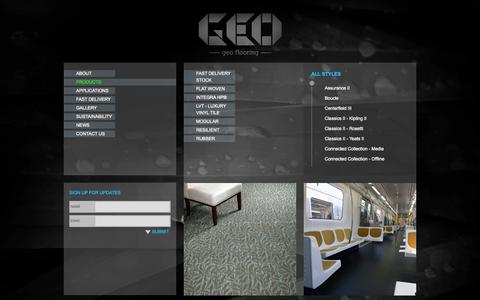 Screenshot of Products Page geoflooring.com.au - Products | Geo Flooring - captured Oct. 1, 2014