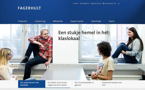 Screenshot of Home Page fagerhult.nl - Start - Fagerhult - captured Oct. 5, 2014