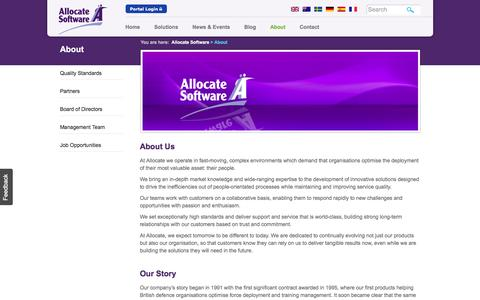 Allocate Software About - Allocate Software