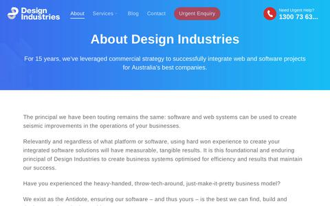 Screenshot of About Page di.net.au - Atlassian Experts & Gold Solution Partners | Design Industries - captured Oct. 8, 2018