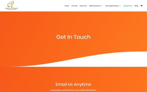 Screenshot of Contact Page cannyinfotech.com - Contact Us - Canny Infotech - captured Feb. 25, 2020