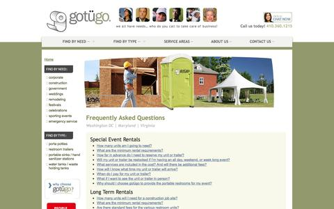 Screenshot of FAQ Page gotugo.com - Frequently Asked Questions | gotügo - captured Sept. 30, 2014