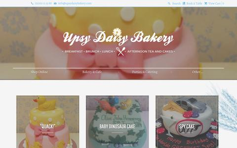 Screenshot of Press Page upsydaisybakery.com - Blog | Upsy Daisy Bakery - captured Sept. 30, 2014