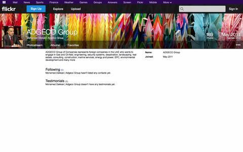 Screenshot of Flickr Page flickr.com - Flickr: Mohamed Dekkak   Adgeco Group - captured Oct. 23, 2014