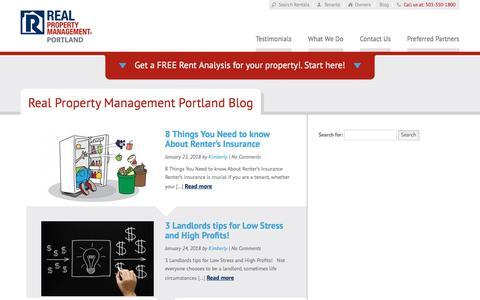 Screenshot of Blog realpropertymanagementportland.com - Portland OR Property Management Blog   Real Property Management Portland - captured July 10, 2018