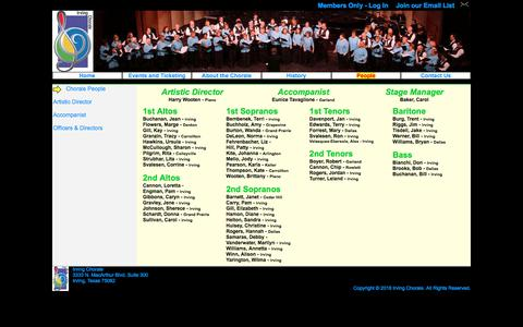 Screenshot of Team Page irvingchorale.org - Irving Chorale - Chorale People - captured July 1, 2018