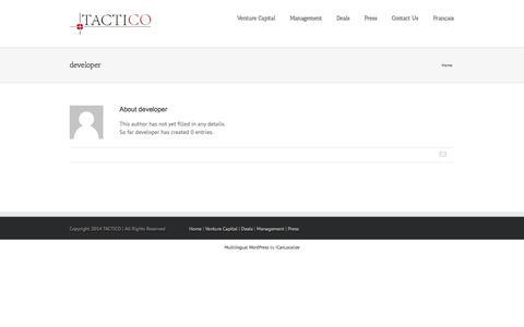Screenshot of Developers Page tactico.com - Tactico Inc   –  developer - captured Nov. 4, 2014