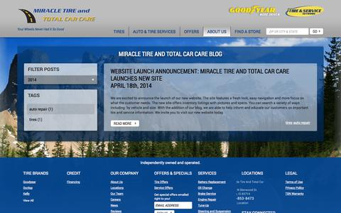 Screenshot of Press Page miracletire.com - Miracle Tire and Total Car Care Blog | Tires & Auto Repair Shop Blog in Boise, ID - captured Oct. 7, 2014