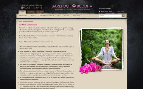 Screenshot of Terms Page barefootbuddha.co.uk - Terms & Conditions - captured Sept. 30, 2014