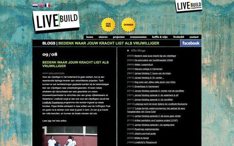 Screenshot of Blog livebuild.org - Blog - LiveBuild - captured Oct. 3, 2014