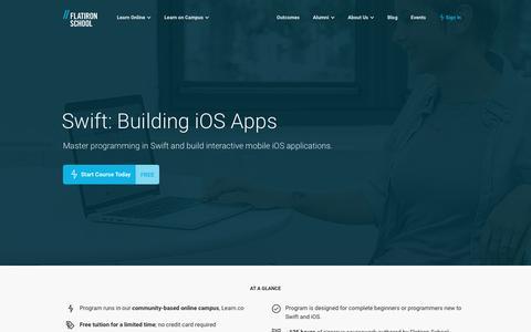 Swift: Building iOS Apps    Flatiron School