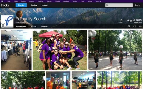 Screenshot of Flickr Page flickr.com - Flickr: PersonifySearch's Photostream - captured Oct. 22, 2014