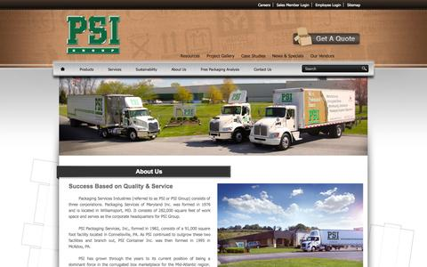 Screenshot of About Page psimd.com - PSI   About Us - captured Oct. 1, 2014