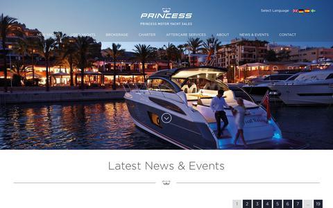Screenshot of Press Page princess.co.uk - News & Events - Princess Motor Yacht Sales - captured Aug. 31, 2017