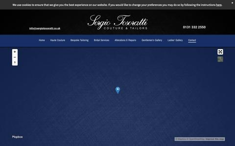 Screenshot of Contact Page sergiotosoratti.co.uk - Italian tailors at Sergio Tosoratti Couture & Tailors - captured Oct. 1, 2018