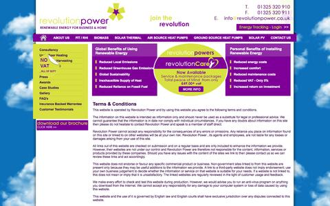 Screenshot of Terms Page revolutionpower.co.uk - Terms and Conditions | Revolution Power - captured Oct. 9, 2014