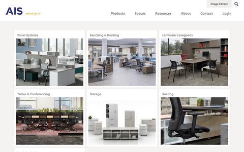 Screenshot of Products Page ais-inc.com - Products | AIS - captured Nov. 12, 2018
