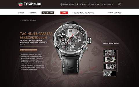 Screenshot of Products Page tagheuer.com.au - Mikropendulum watch   TAG Heuer - captured Jan. 18, 2016