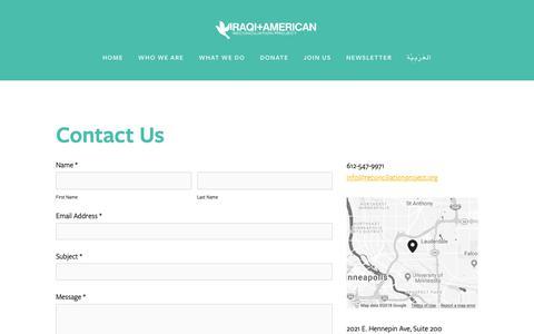 Screenshot of Contact Page reconciliationproject.org - Contact — IARP - captured Dec. 19, 2018