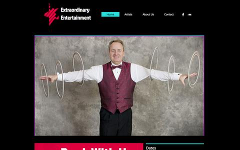 Screenshot of Home Page extraordinaryentertainment.biz - Extraordinary Entertainment, Houston - captured Oct. 3, 2014