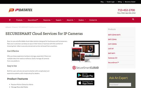 IP Camera Cloud Recording - Cloud Services for IP Security Cameras | ipDatatel