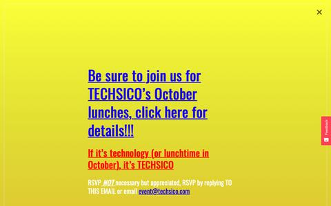 Screenshot of Contact Page techsico.com - Contact - Techsico - captured Oct. 18, 2018