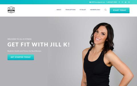 Screenshot of Home Page jillkfitness.com - Jill K Fitness – Personal Trainer in Utah County - captured Oct. 21, 2018