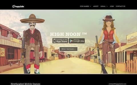 Screenshot of Home Page happylatte.com - Happylatte | Corporate page - captured July 19, 2015