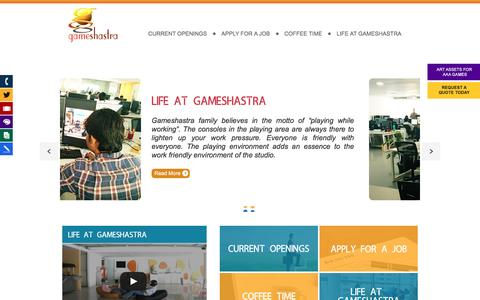 Screenshot of Jobs Page gameshastra.com - career @ Gameshastra | India's largest Gaming Company - captured July 11, 2016