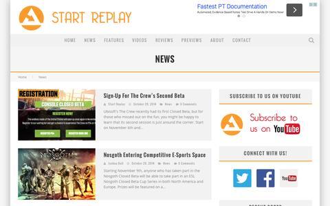 Screenshot of Press Page startreplay.com - Start Replay - captured Oct. 29, 2014