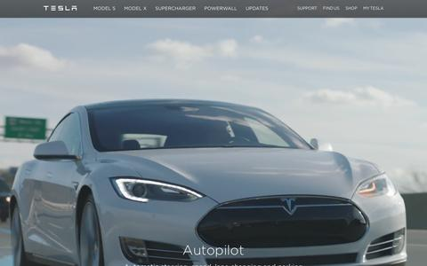 Screenshot of Home Page teslamotors.com - Tesla Motors | Premium Electric Vehicles - captured Jan. 27, 2016