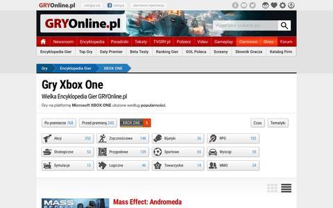 Gry Xbox One | GRYOnline.pl