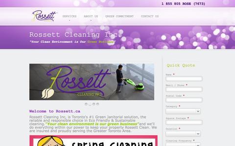 Screenshot of Home Page rossett.ca - rossett - captured Oct. 9, 2014