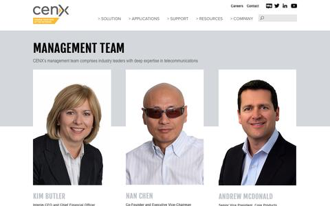 Screenshot of Team Page cenx.com - CENX: Management Team - captured May 11, 2017