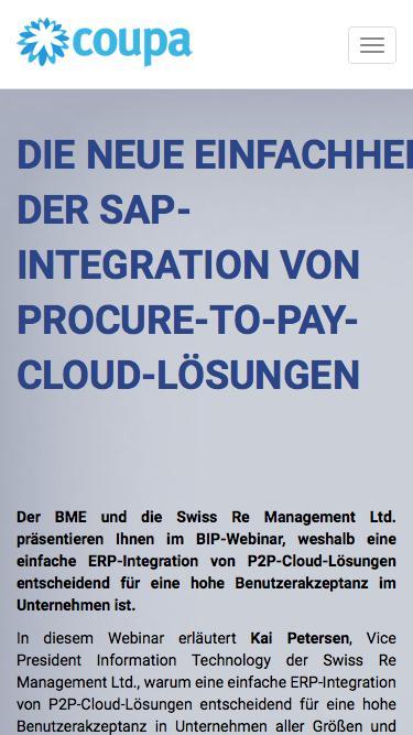 Die neue Einfachheit der SAP-Integration von Procure-to-Pay-Cloud-Lösungen