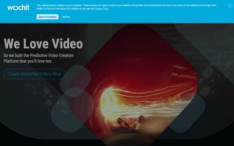 Screenshot of Home Page wochit.com - Wochit | Video Creation Made Easy - captured Nov. 12, 2018
