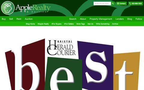 "Screenshot of Blog applesold.com - Posts tagged ""apple realty"" - Apple Realty Blog - captured Feb. 6, 2016"